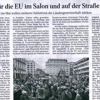 Streiten für die EU im Salon und auf der Straße